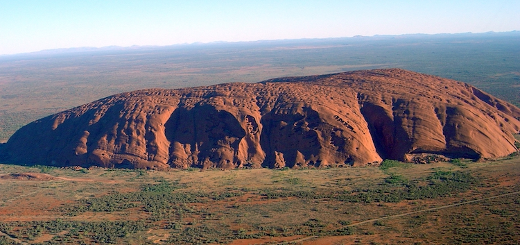 Uluru rock in Central Australia. Indigenous Australians met in a historic summit overlooking it on May 24-26. Credit: Wikimedia Commons.