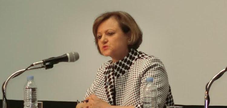 Cristina Gallach, UN Under-Secretary-General for Communications and Public Information, at a press conference in Gyeongju, South Korea on June 1, 2016. Credit: Katsuhiro Asagiri | IDN-INPS
