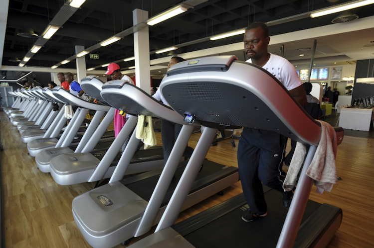 Photo: A Virgin Active gym in Soweto, Johannesburg South Africa. Credit: Africa Renewal | AMO | Robert Tshabalala