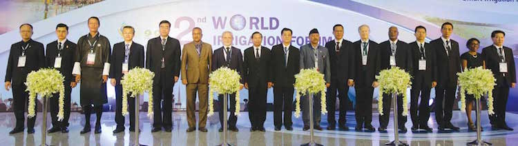 Photo: Dignitaries at the 2nd World Irrigation Forum, Chiang Mai, Thailand, November 2016. Credit: Nation