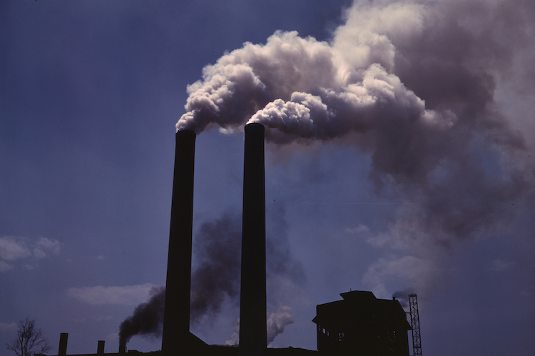 Photo: Air pollution from a coking oven. Source: Wikimedia Commons.