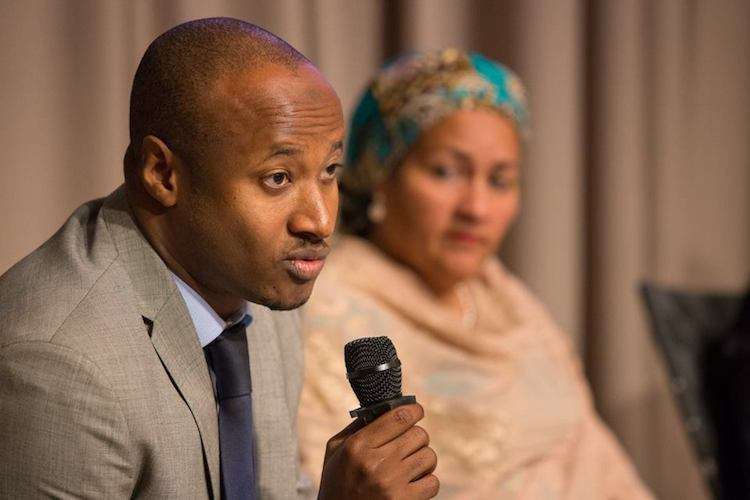 Photo: Seyni Nafo (left), spokesman of the African delegation to the COP24, with Amina J. Mohammed, UN Deputy Secretary-General, at a meeting in 2016. Credit: World Bank