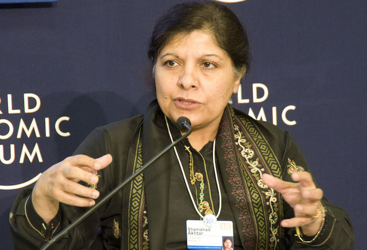 Photo: ESCAP Executive Secretary Shamshad Akhtar addressing World Economic Forum on the Middle East and North Africa Marrakech, Morocco, 28 October 2010 as Regional Vice-President, Middle East and North Africa, World Bank. Copyright World Economic Forum | John Cole/still-images.net