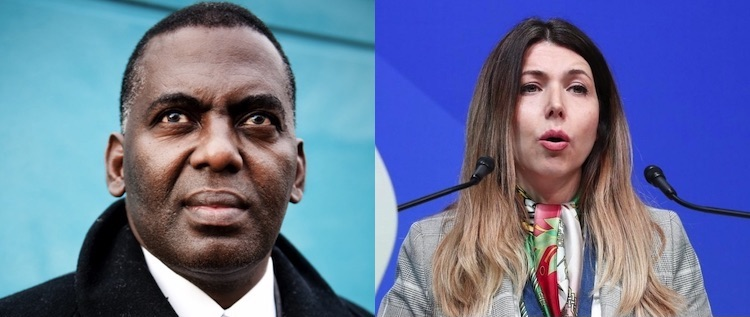 Photo: Collage of Biram Dah Abeid from Mauritania and Shaparak Shajarizadeh of Iran.