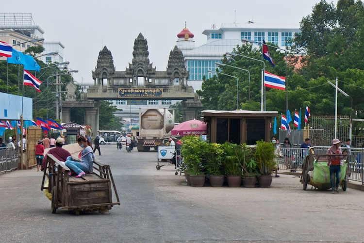 Photo: Cambodian-Thai border courtesy of www.cambodiantr.gov.kh