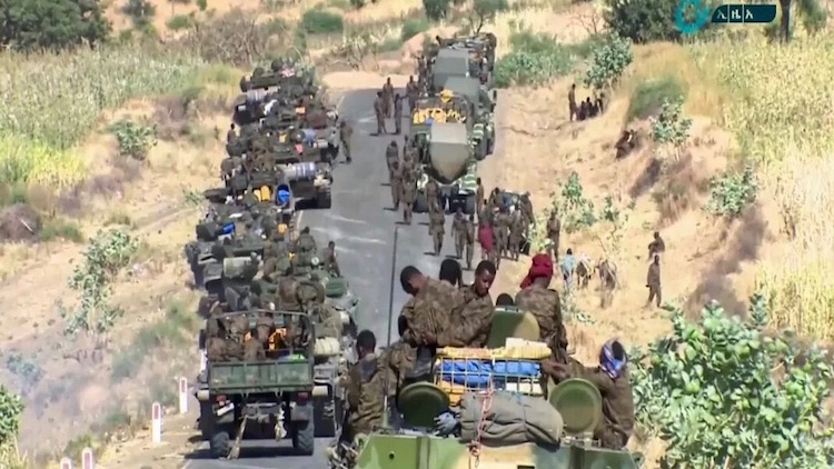 "Photo: Ethiopian federal government's ""final offensive"" against Tigray regional forces. Credit: Ethiopian News Agency"