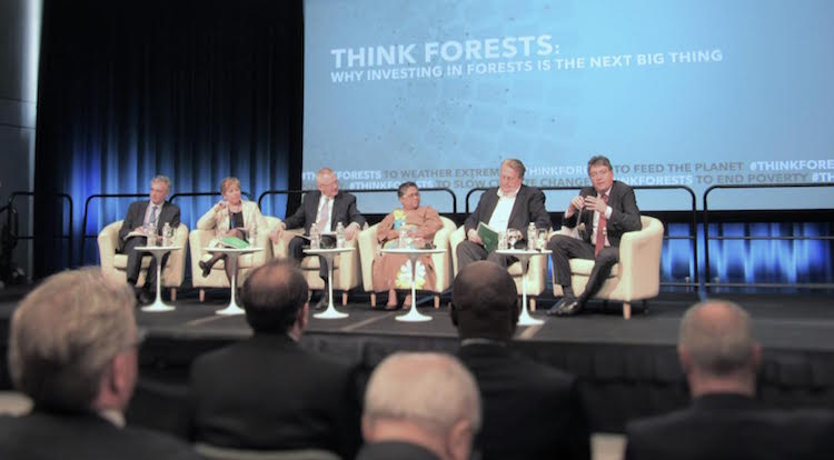 Photo: 'Think Forest' Panel during IMF/World Bank Spring Meeting. Credit: Fabiola Oritz.
