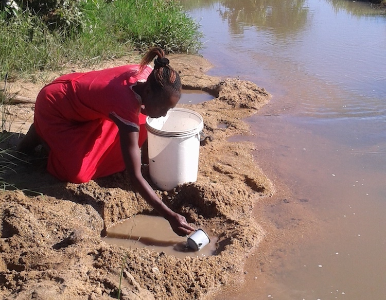 Lack of piped water across Africa has impelled villagers to turn to unprotected water bodies to access the precious liquid. Credit: Jeffrey Moyo/IDN-INPS