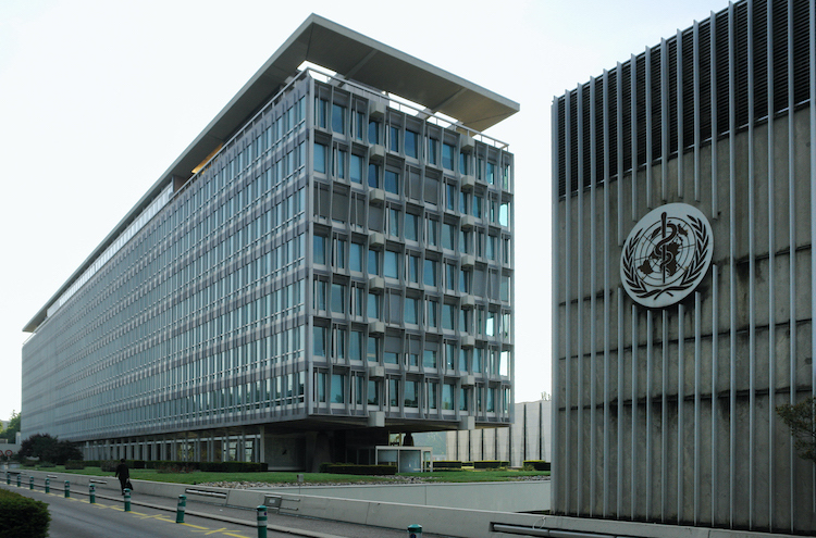 Photo: WHO Headquarters in Geneva, North and West sides. CC BY-SA 3.0